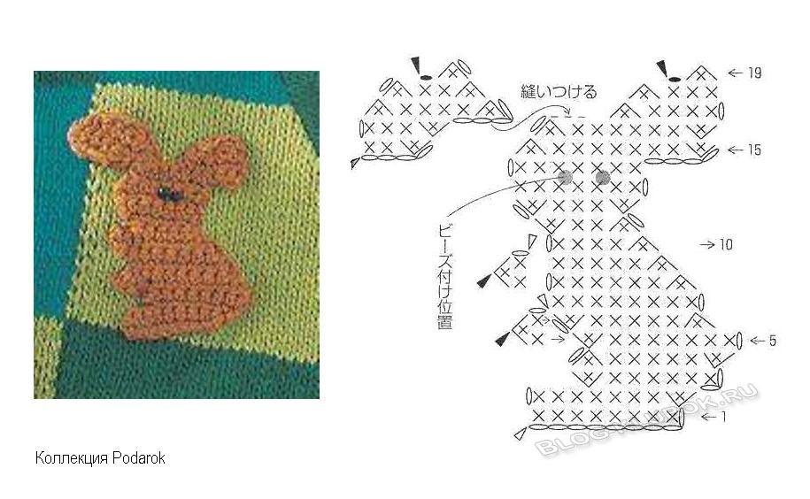 Схемы для вязания крючком животные 35
