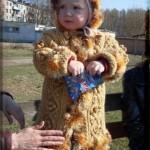 Вязаное детское пальто спицами, описание детского пальто спицами