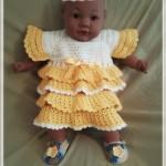 Детское платье реглан крючком